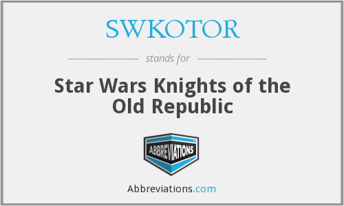 What does SWKOTOR stand for?