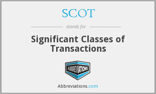 SCOT - Significant Classes of Transactions