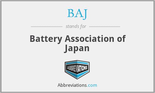 BAJ - Battery Association of Japan