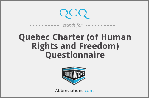 QCQ - Quebec Charter (of Human Rights and Freedom) Questionnaire
