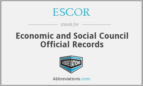 What does ESCOR stand for?