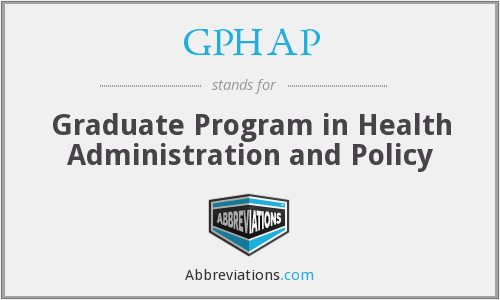 What does GPHAP stand for?