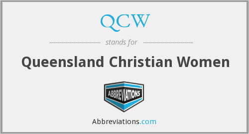 QCW - Queensland Christian Women