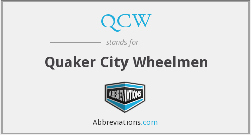 QCW - Quaker City Wheelmen