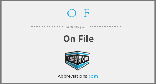 What does O|F stand for?