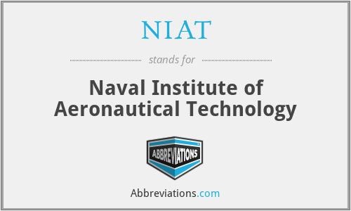 NIAT - Naval Institute of Aeronautical Technology