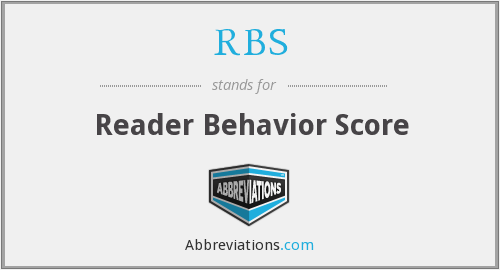 RBS - Reader Behavior Score