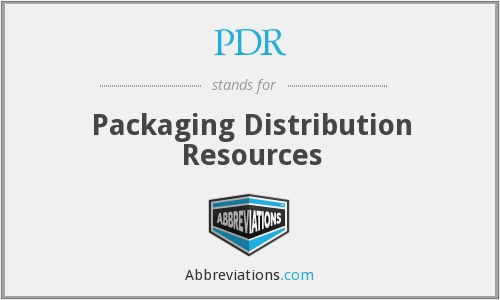 PDR - Packaging Distribution Resources