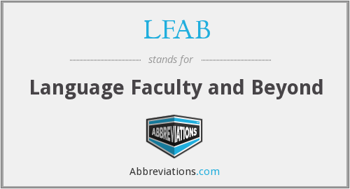 LFAB - Language Faculty and Beyond