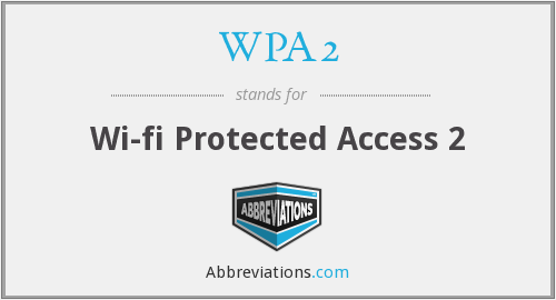 What does WPA2 stand for?