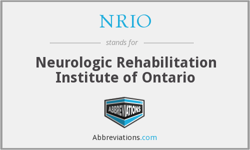 What does NRIO stand for?