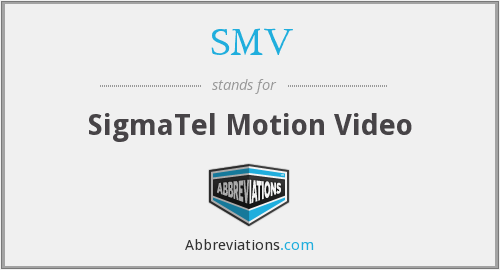 What does SMV stand for? — Page #2