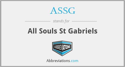 ASSG - All Souls St Gabriels