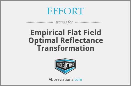 EFFORT - Empirical Flat Field Optimal Reflectance Transformation