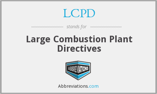 LCPD - Large Combustion Plant Directives