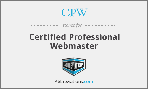 CPW - Certified Professional Webmaster