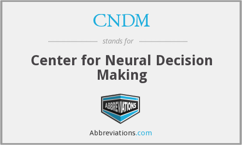 What does CNDM stand for?
