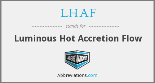 What does LHAF stand for?