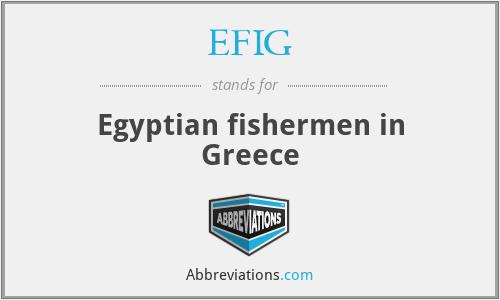 EFIG - Egyptian fishermen in Greece
