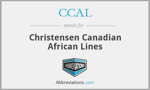 CCAL - Christensen Canadian African Lines