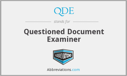 QDE - Questioned Document Examiner