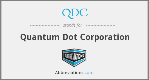 QDC - Quantum Dot Corporation