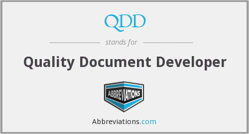 QDD - Quality Document Developer