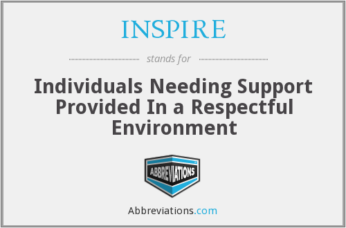INSPIRE - Individuals Needing Support Provided In a Respectful Environment