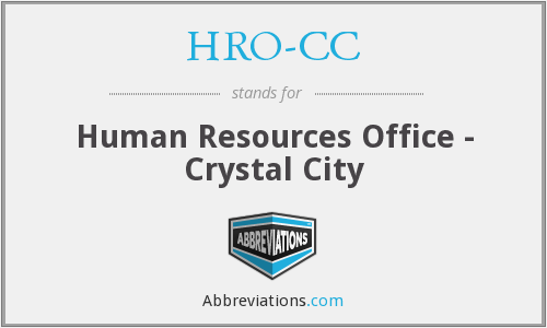 HRO-CC - Human Resources Office - Crystal City
