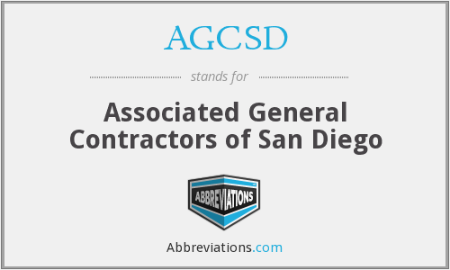 What does AGCSD stand for?