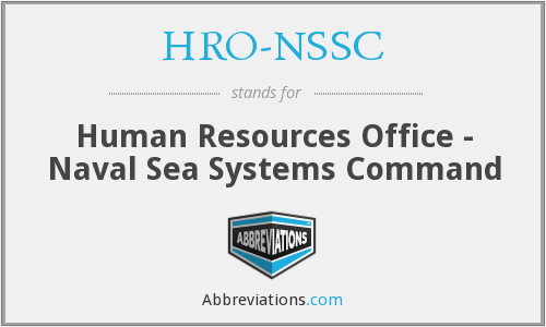 What does HRO-NSSC stand for?