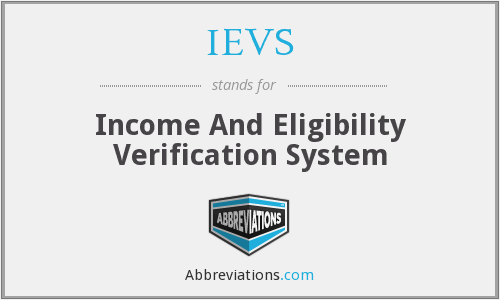 What does IEVS stand for?