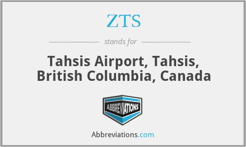 ZTS - Tahsis Airport, Tahsis, British Columbia, Canada