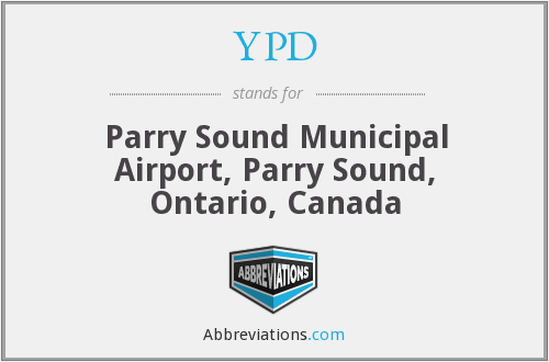 YPD - Parry Sound Municipal Airport, Parry Sound, Ontario, Canada