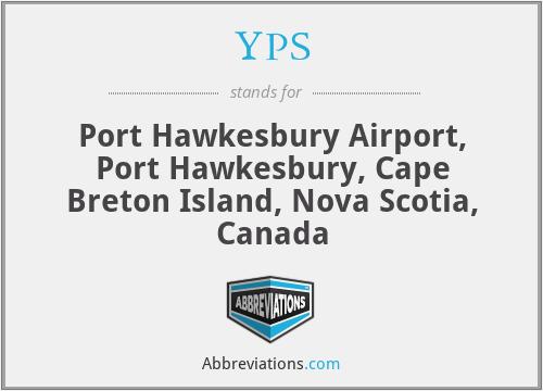 YPS - Port Hawkesbury Airport, Port Hawkesbury, Cape Breton Island, Nova Scotia, Canada