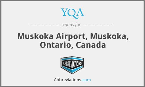 YQA - Muskoka Airport, Muskoka, Ontario, Canada