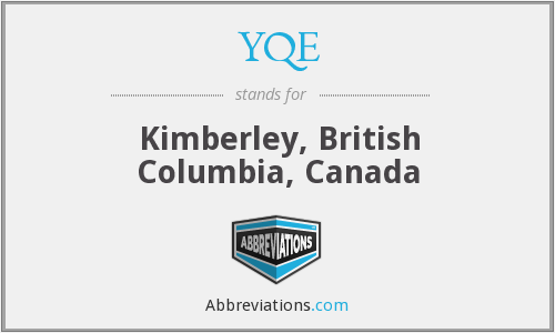 YQE - Kimberley, British Columbia, Canada