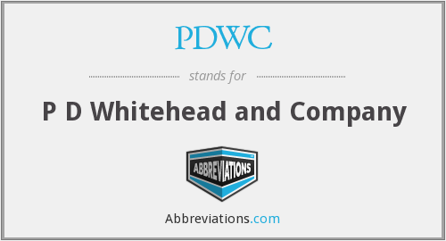 What does PDWC stand for?