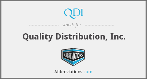 QDI - Quality Distribution, Inc.