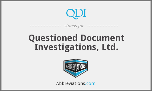QDI - Questioned Document Investigations, Ltd.