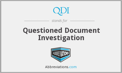 QDI - Questioned Document Investigation