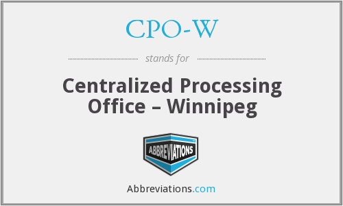 What does CPO-W stand for?