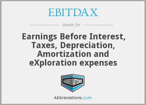 EBITDAX - Earnings Before Interest, Taxes, Depreciation, Amortization and eXploration expenses