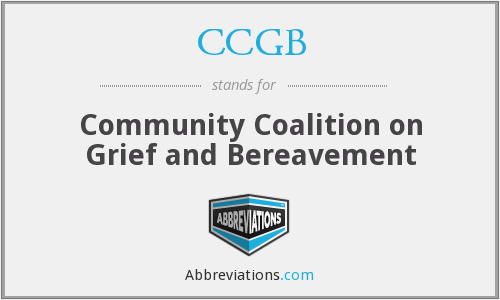 CCGB - Community Coalition on Grief and Bereavement