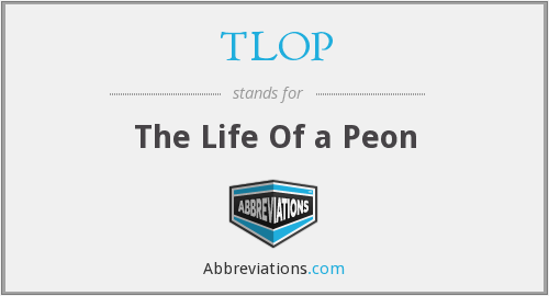 What does peon stand for?