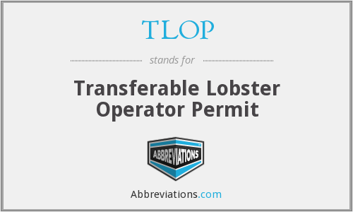 TLOP - Transferable Lobster Operator Permit