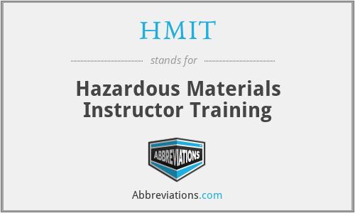HMIT - Hazardous Materials Instructor Training