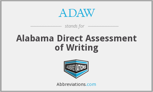 ADAW - Alabama Direct Assessment of Writing