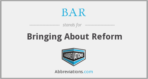 BAR - Bringing About Reform