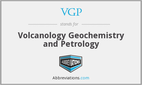 VGP - Volcanology Geochemistry and Petrology